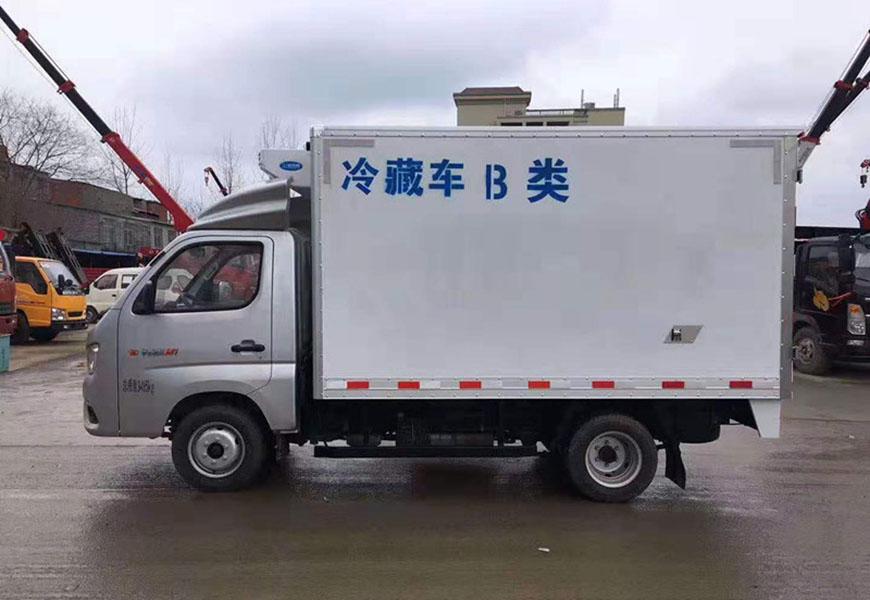 福田祥菱后双轮冷藏车侧面图