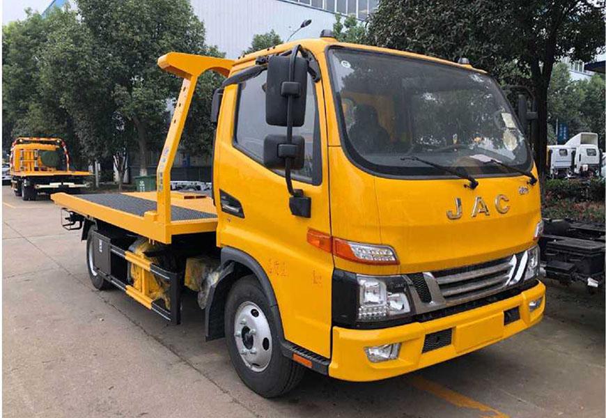 Euro  Sixth Jianghuai Junling V5 One-to-Two Flatbed Wrecker Truck